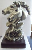 deux Têtes cheval resine