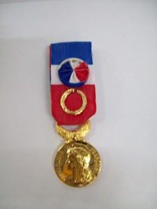 Médailles du travail 40ans Grand OR
