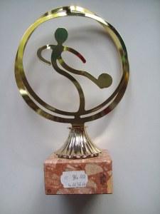 Trophée Métal gold
