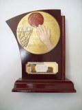 Trophée bois basket